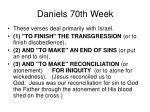 daniels 70th week2