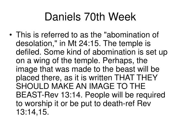 Daniels 70th Week