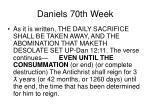 daniels 70th week45