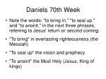 daniels 70th week55