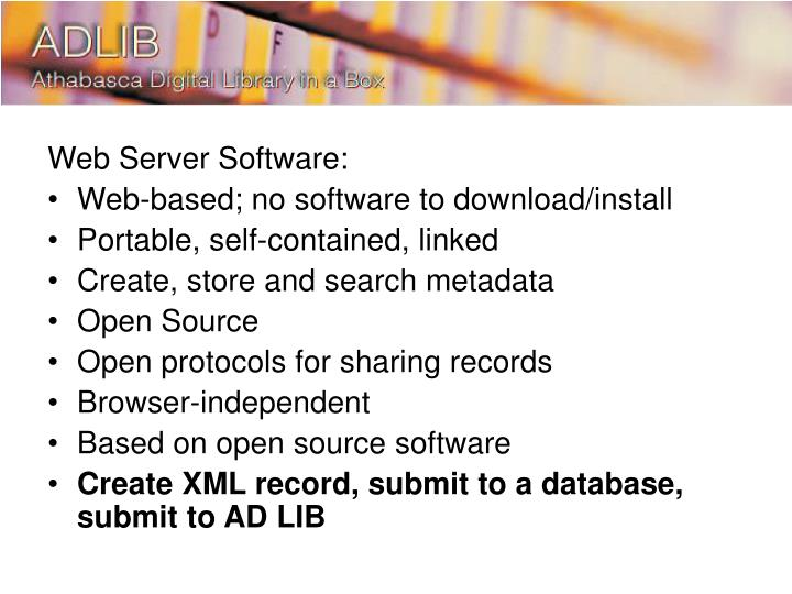 Web Server Software: