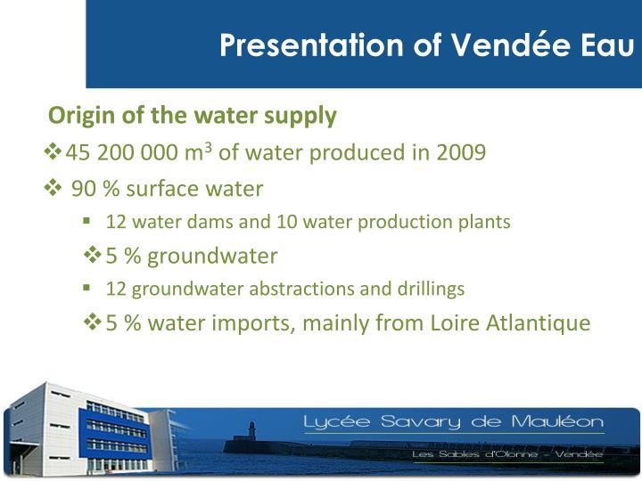 Presentation of Vendée Eau