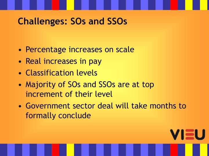 Challenges: SOs and SSOs