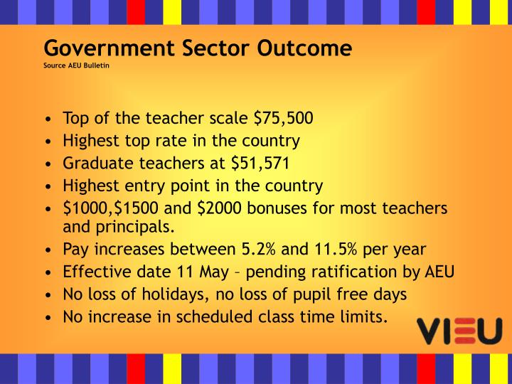Government Sector Outcome