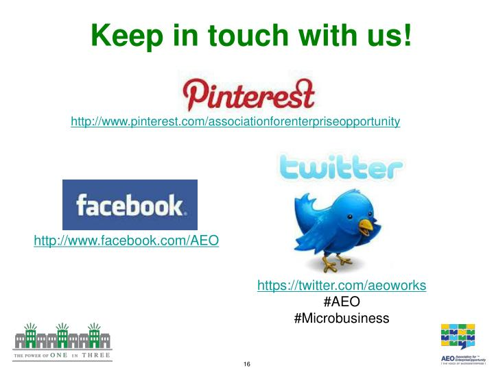 Keep in touch with us!