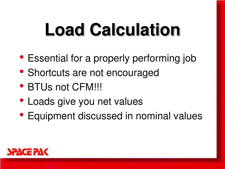 Load Calculation
