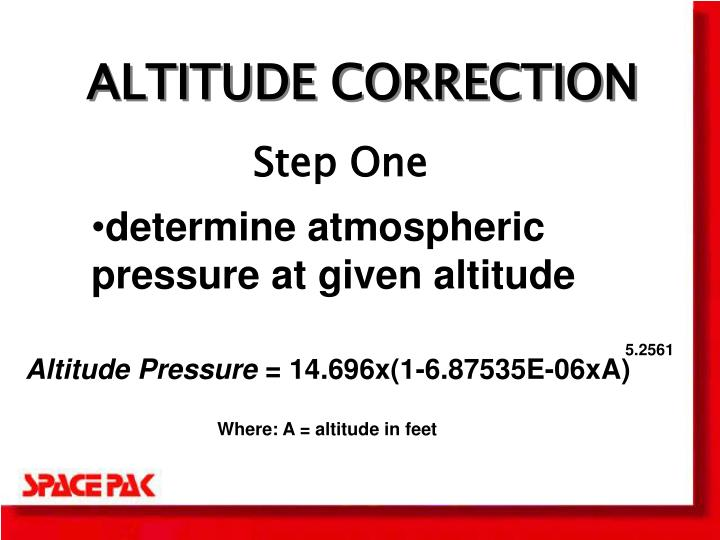 ALTITUDE CORRECTION