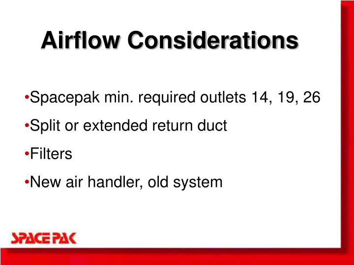 Airflow Considerations