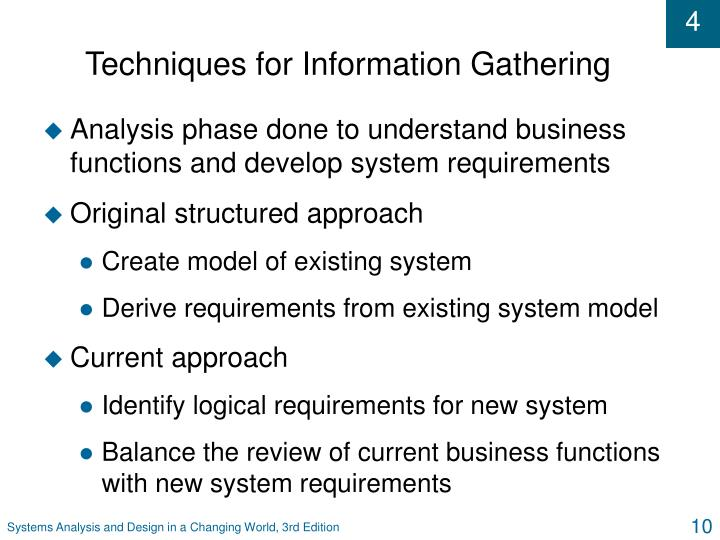 Techniques for Information Gathering