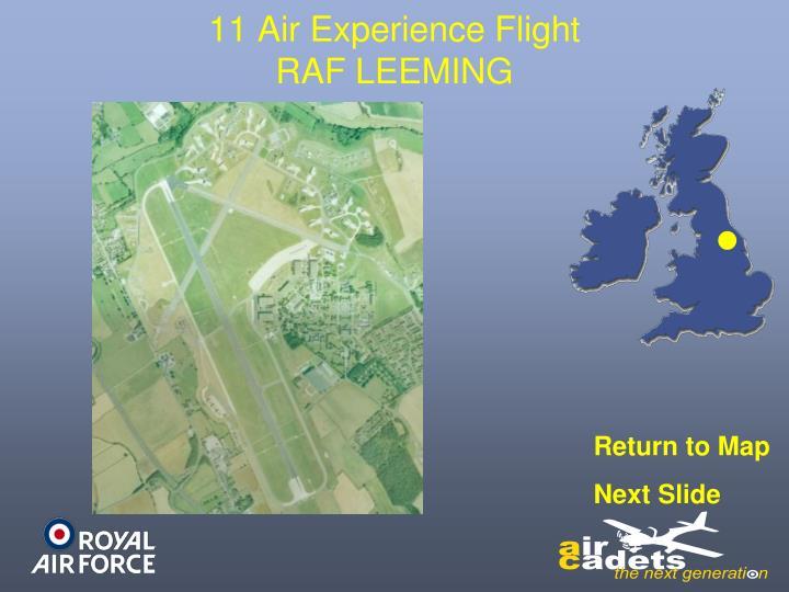 11 Air Experience Flight