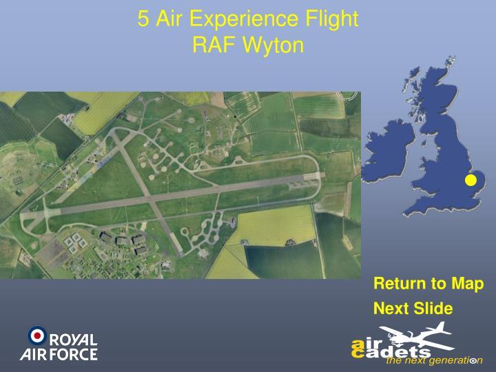 5 Air Experience Flight