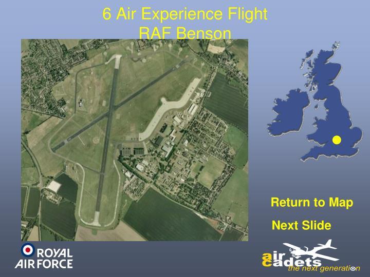 6 Air Experience Flight