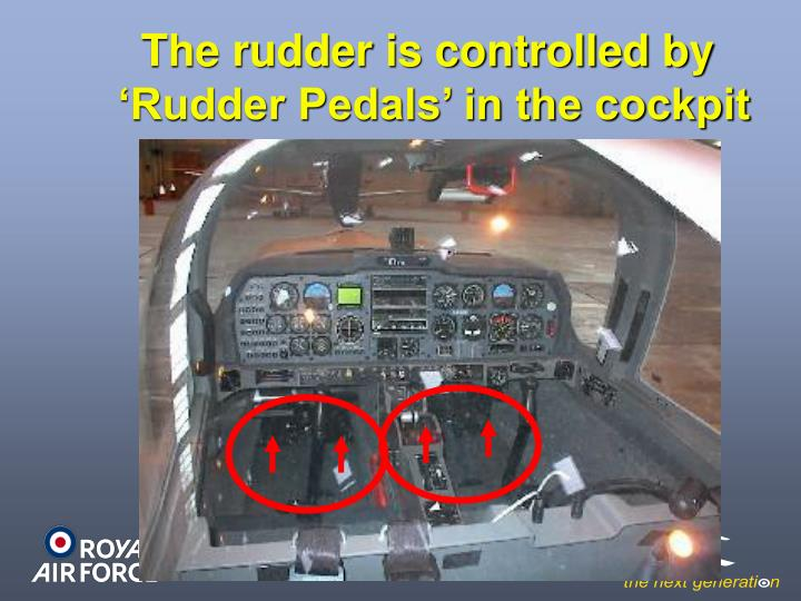 The rudder is controlled by