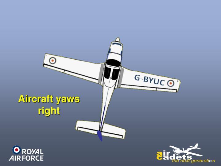 Aircraft yaws