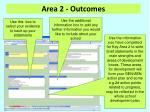 area 2 outcomes