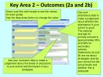 key area 2 outcomes 2a and 2b