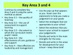 key area 3 and 4