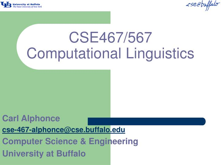 Cse467 567 computational linguistics
