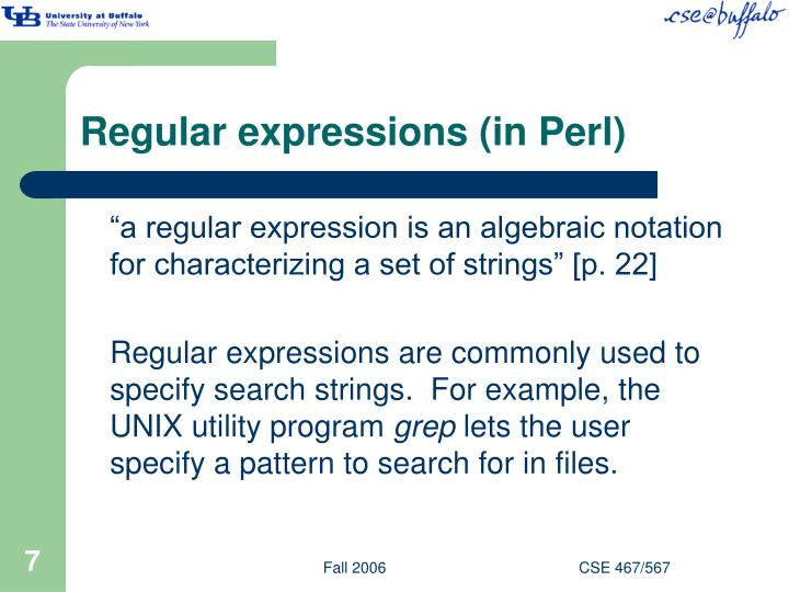 Regular expressions (in Perl)