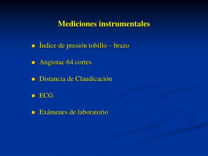 Mediciones instrumentales