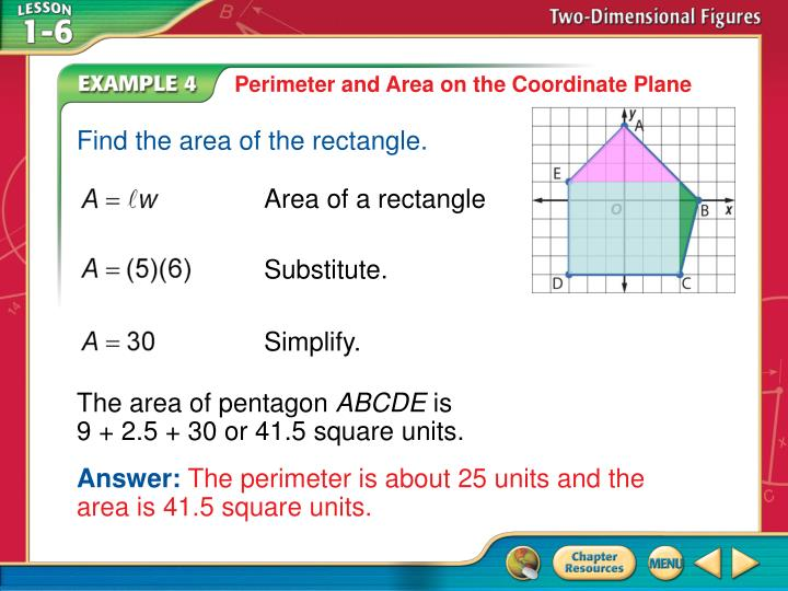Perimeter and Area on the Coordinate Plane