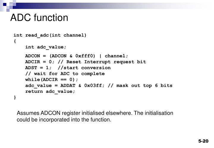 ADC function