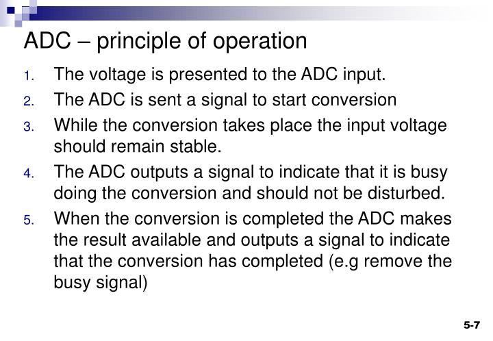 ADC – principle of operation