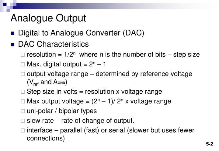 Analogue Output