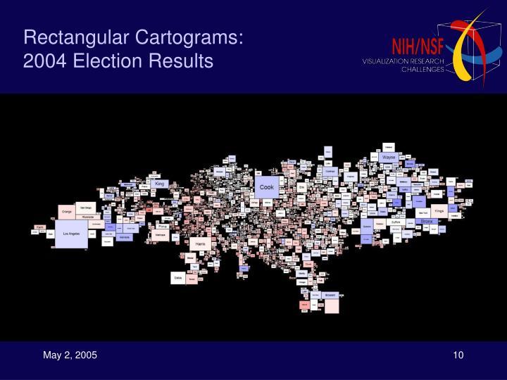 Rectangular Cartograms: