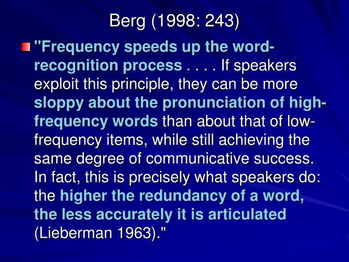 Berg (1998: 243)