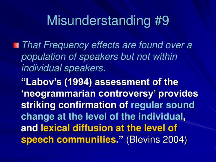 Misunderstanding #9