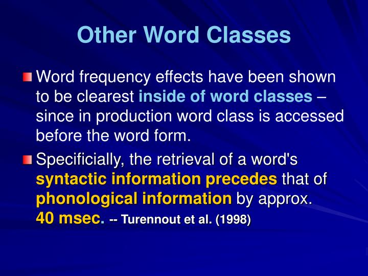 Other Word Classes