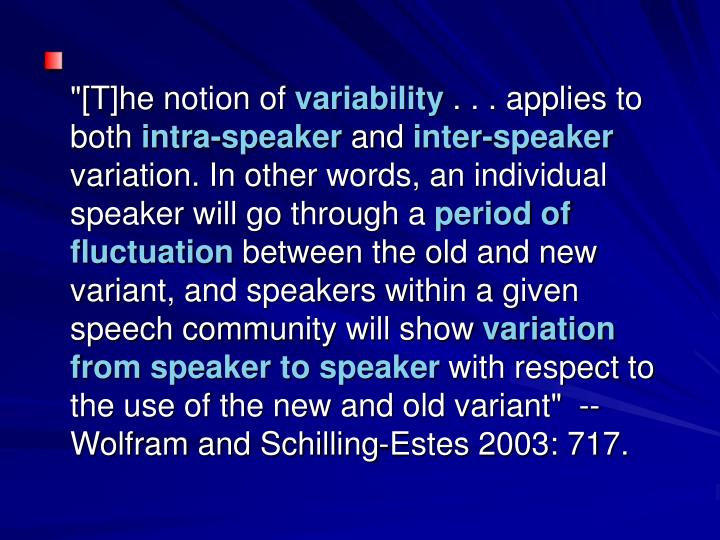 """""""[T]he notion of"""