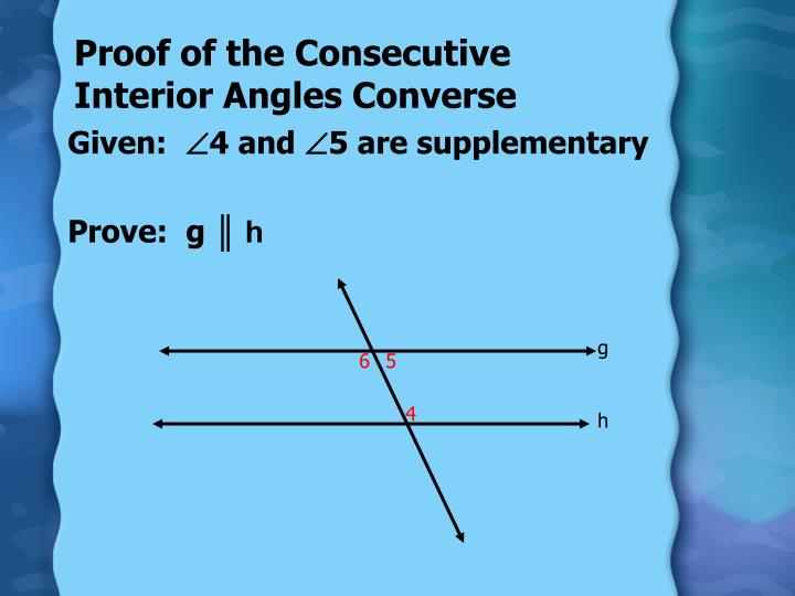 Proof of the Consecutive Interior Angles Converse