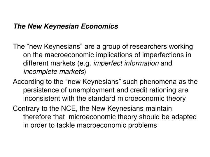 The New Keynesian Economics