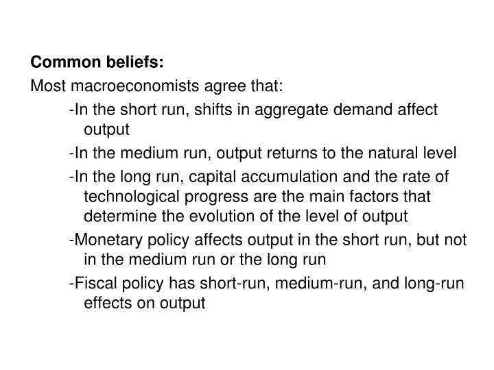 Common beliefs: