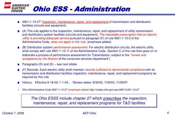 Ohio ESS - Administration