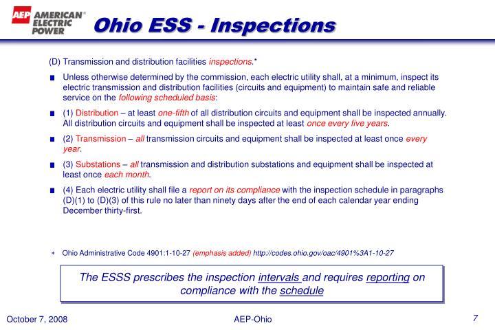 Ohio ESS - Inspections