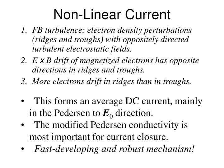 Non-Linear Current