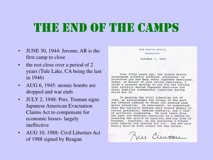 JUNE 30, 1944: Jerome, AR is the first camp to close