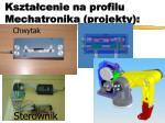 kszta cenie na profilu mechatronika projekty