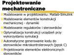 projektowanie mechatroniczne