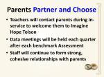 parents partner and choose