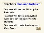 teachers plan and instruct