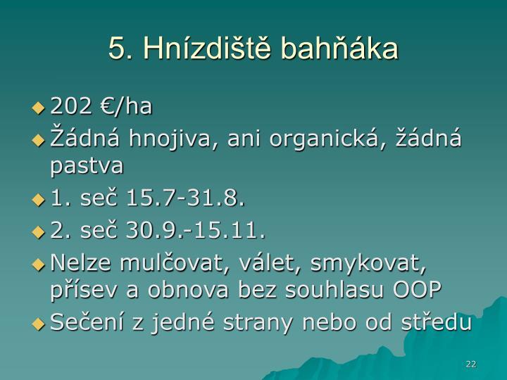 5. Hnízdiště bahňáka