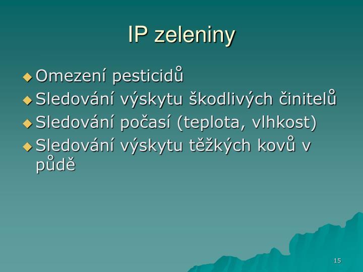 IP zeleniny