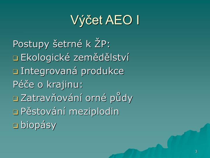 Výčet AEO I