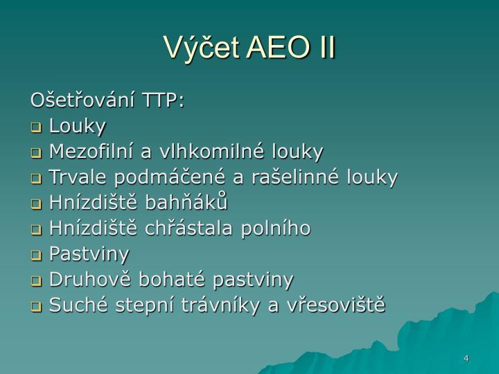 Výčet AEO II