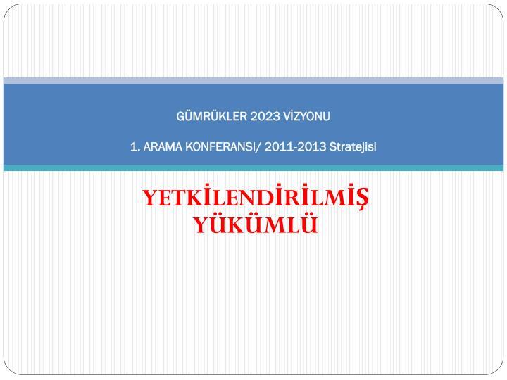 g mr kler 2023 v zyonu 1 arama konferansi 2011 2013 stratejisi