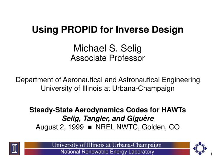 Using PROPID for Inverse Design